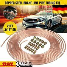 Bremsrohr 10m 4,75mm Kupfer mit 10x Verschraubung 10x Verbinder für Bremsleitung