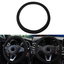 UK 3D Sandwich Car Steering Wheel Cover Breathable Four Seasons Universal Black