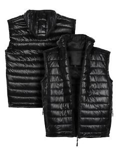 Boys Gilet Bodywarmer Jacket Quilted Lined Waistcoat Age 7 to 13 Years Black