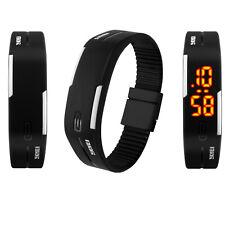 Men Women Digital LED Date Magnet Buckle Sports Bracelet Waterproof Wrist Watch