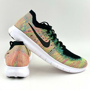 Nike Free RN Flyknit 2017 Multicolor Men's Size 12.5 Running Shoes 880843 005