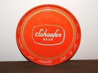 "VINTAGE BAR 11 3/4"" ACROSS SCHAEFER BEER  METAL SERVING TRAY"