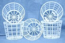 "Clear Plastic Grid Pot for Orchids 3"" Diameter - Made in Germany - Qty of 10"
