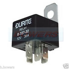 DURITE 0-727-32 12V VOLT 30A AMP 5 PIN TWIN MAKE BREAK MINI RELAY WITH BRACKET