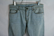 8f4313b02f2 SAINT LAURENT PARIS Washed Slim Skinny Light Blue Jeans Pants Denim 32 34  New