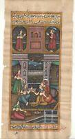 Indianer Mughal King Handgefertigt Wasserfarbe Harem Erotik Papier Malerei Dekor