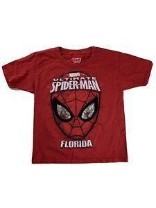Marvel Spider-man Shirt Pullover Short Sleeve T-Shirt Kids' Size XS