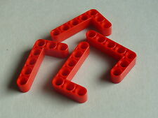 Lego 4 bras levier rouge 42040 8650 8081 70135 41999 /4 red liftarm 3 x 5L thick