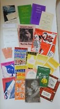 Vintage Collection of Concert Theatre Programmes Dated 1940s-1970s Plus Tickets