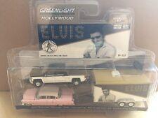 Greenlight Hollywood Diecast -Elvis 2015 Chevrolet Silverado 1500, 1955 Cadillac