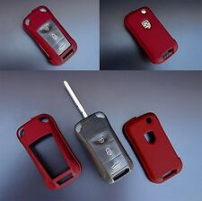 PORSCHE Metal Red Remote Flip Key Cover Case Skin Shell Cap Fob Protection Hull