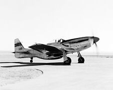 NACA F-51D MUSTANG AIRCRAFT ON ROGERS DRY LAKE BED IN 1955 - 8X10 PHOTO (AA-552)