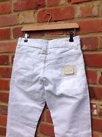 VINTAGE JEAN PAUL GAUTIER WHITE JEANS WAIST 30 X 32 LEG RETRO BOTTOMS PARIS