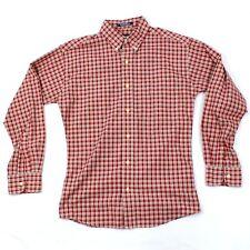 VTG Chaps Ralph Lauren Slim Fit Button Up Shirt Adult Large L Plaid Long Sleeve