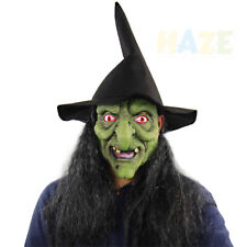 Halloween Horror Witch Mask Room Escape Dress up Terror Headgear with Hair