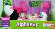 Leap Frog Alphabet Puppy Dog Alpha Pup Pink Bow Pull Along Fun Learn Abc Toddler
