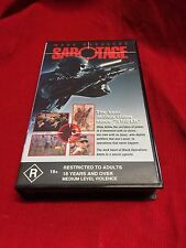 Sabotage Mark Dacascos VHS Video Tape Polygram Rated R18+