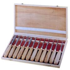 12pc Pro Madera Cincel Tallado Crv Profesional carpinteros conjunto de herramientas de mano En Funda