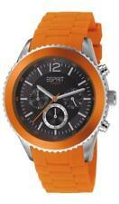Esprit Herrenuhr Marin Men Orange ES105331008 Analog Chronograph Silikon Orange
