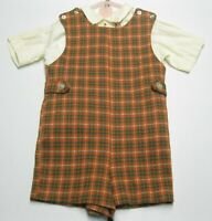Kid's Vintage 60s 70s Helth-Tex Fawn Togs Shirt & Romper Outfit size 4