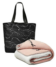 Victoria's Secret Pink Sherpa Blanket and Zippered Tote Bag 2020, New
