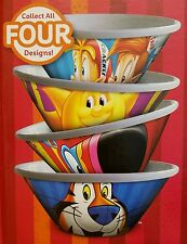 KELLOGGS CEREAL BOWLS - Set of 4 Brand New 2016 Collectible - Free Shipping !