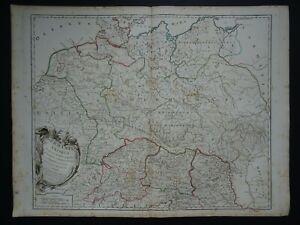 1790 Vaugondy Atlas Universel map  ANCIENT GERMANY - Germania Antiqua