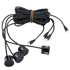 Car Parking Assist Sensor Reverse System Replacement Rear 4 Sensors Black TKDF