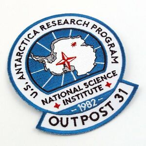 The Thing Outpost #31 research programme Antarctic 1982 Expedition Flap