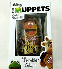 Disney Muppet Show Tumbler Glass Fozzie Bear Character Collectible Nib