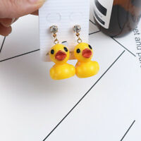 Lovely Yellow Duck Dangle Drop Ear Stud Earrings Women Charming Jewelry Latest