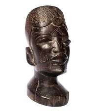 Makonde People Southern Tanzania  - Old Ebony Wood Carved African Woman Head