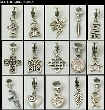 15 Tibetan Silver European Dangle Charm Beads Mix Fit Charm Bracelet (BOX89)