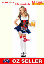 Women Beer Sister Waitress French Maid Servant Costume  Fancy Dress Up Halloween