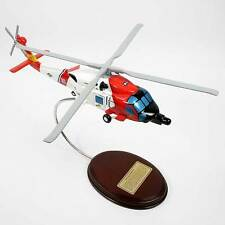 USCG HH-60J Jayhawk Helicopter - Hand-Carved 1/64 Scale Model - Ready to Display