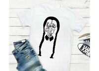 Wednesday Addams I Hate Everything Pigtails Halloween Unisex Fit T-Shirt Tee