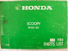Honda sh50 sh80 pieza de repuesto scoopy-catálogo/parts-List