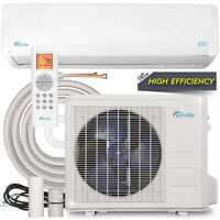 24000 BTU Mini Split Air Conditioner with Heat Pump Remote and Installation Kit