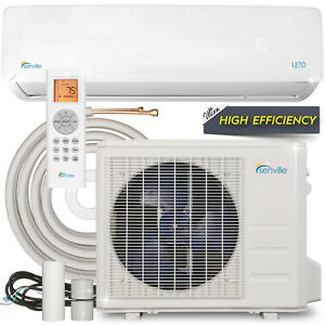 24000 BTU Mini Split Air Conditioner with Heat Pump Remote and Installation Kit