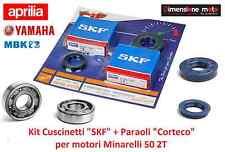 186 KIT REVISIONE ALBERO: Cuscinetti SKF + Paraoli CORTECO per MBK Booster 50 NG