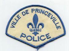 Ville de Princeville Police, Quebec, Canada HTF Vintage Uniform/Shoulder Patch