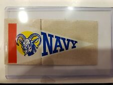 1964 Topps Football Pennant Stickers Insert Navy