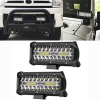 120W 7IN LED Work Light Bar Flood Spot Beam Offroad 4WD SUV Driving Fog Light 9H