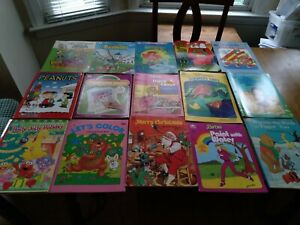 VINTAGE CHILDREN'S COLORING AND ACTIVITY BOOKS-LOT OF 15 PARTIALLY USED & NEW!!!