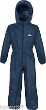 Trespass Kids Button Suit Waterproof All in One Puddle Rainsuit 12 Mths to 8yrs 7-8 Years Navy