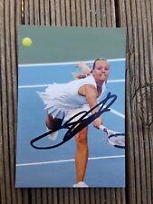 Agnes Szvazay Hand Signed Colour Photograph Tennis Player