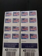 40 x $0.55 New Unused USPS US FLAG Forever Postage Stamps ~ ($22 Value)