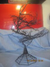 """Halloween Huge Black 22"""" Tall Spooky Haunted Wire Tree To Hang Small Ornaments"""
