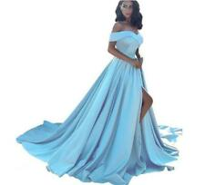 Women's Pretty Off Shoulder Evening Wedding Party Flared Dress Cocktail Prom 677