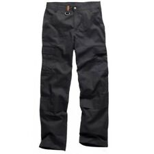 Scruffs Hampton Work Trousers Black Hardwearing Workwear Pants - 30in Reg
